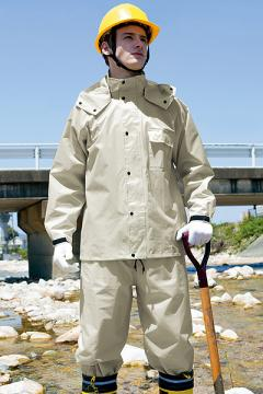 ユニフォームや制服・事務服・作業服・白衣通販の【ユニデポ】【全4色】レインスーツ(B-10)