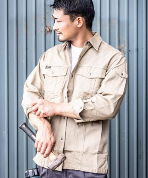 【AZITO】長袖シャツ(綿100%/通年対応)