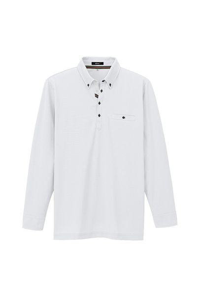 部屋干しボタンダウン長袖ポロシャツ(男女兼用)