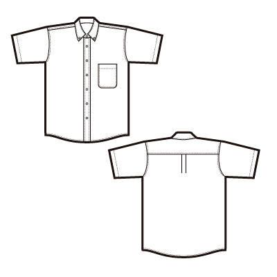半袖オックスフォードシャツ(形態安定)