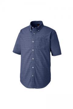 半袖ギンガムシャツ