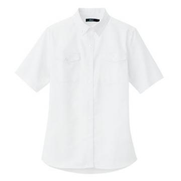 ユニフォームや制服・事務服・作業服・白衣通販の【ユニデポ】レディース半袖オックスボタンダウンシャツ