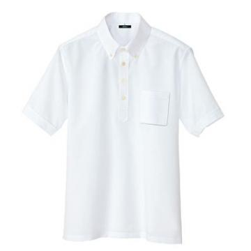 ユニフォームや制服・事務服・作業服・白衣通販の【ユニデポ】メンズ半袖プルオーバーシャツ
