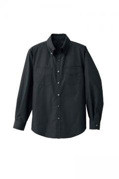 コックコート・フード・飲食店制服・ユニフォームの通販の【レストランデポ】メンズ長袖ボタンダウンシャツ(両胸ポケット付き)