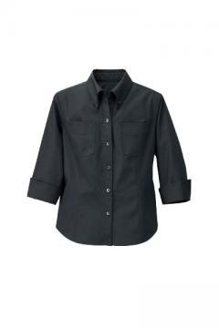 【2色】レディス七分袖BDシャツ