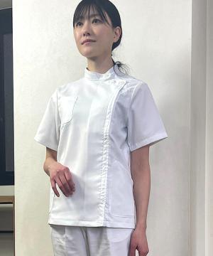 【全2色】レディース半袖ケーシーコート 白衣