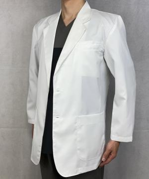 コックコート・フード・飲食店制服・ユニフォームの通販の【レストランデポ】メンズブレザードクターコート 白衣