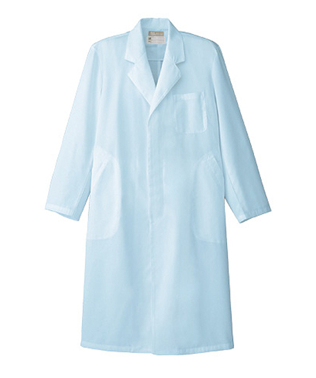 【全2色】メンズドクターコート白衣(シングル・比翼仕立て)