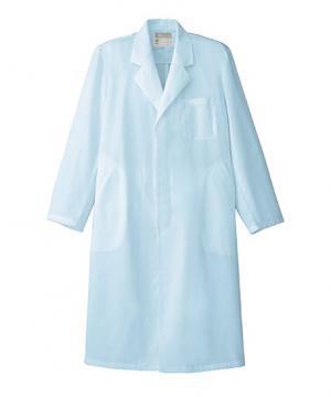 白衣や医療施設用ユニフォームの通販の【メディカルデポ】【全2色】メンズドクターコート白衣(シングル・比翼仕立て)