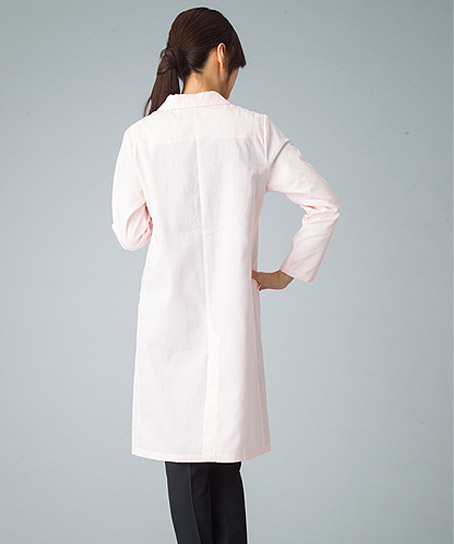 【全3色】レディースドクターコート白衣(シングル・比翼仕立て)