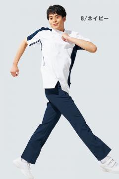 ユニフォームや制服・事務服・作業服・白衣通販の【ユニデポ】【全2色】メンズシャーリングパンツ(高機能)