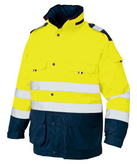 高視認性防水防寒コート