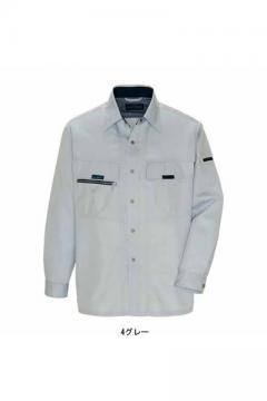 作業服の通販の【作業着デポ】【全4色】長袖サマーシャツ(帯電防止・吸汗速乾・消臭)