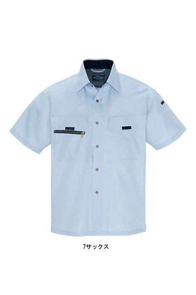 【全4色】半袖サマーシャツ(帯電防止・吸汗速乾・消臭)