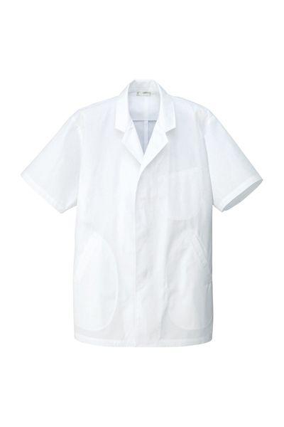 メンズ衿付き調理着(半袖)