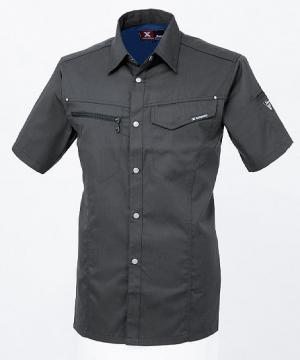 作業服の通販の【作業着デポ】【ジーベック】プリーツロン半袖シャツ(男女兼用)