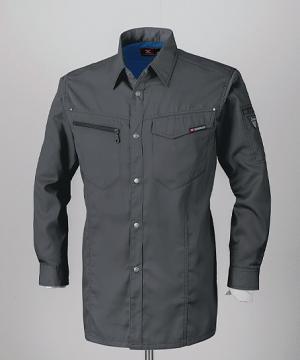 作業服の通販の【作業着デポ】【ジーベック】プリーツロン長袖シャツ(男女兼用)