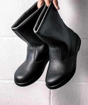 【JIS規格合格商品】ジーベック 半長靴 安全靴(樹脂先芯・牛革)