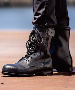 【JIS規格合格商品】ジーベック 長編上 安全靴(鋼製先芯・牛革)
