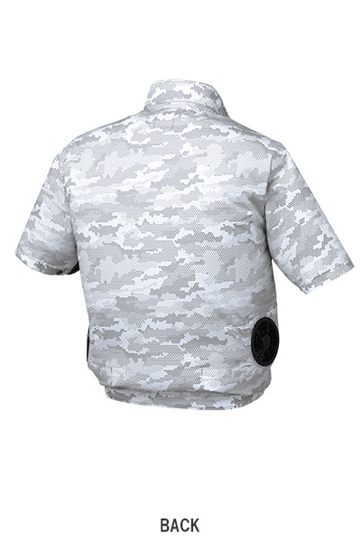 【空調服】迷彩半袖ブルゾン(撥水・男女兼用)単品
