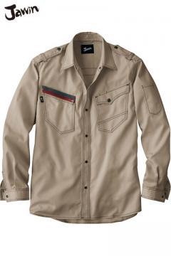 作業服の通販の【作業着デポ】【Jawin ジャウィン】長袖シャツ(消臭・抗菌)