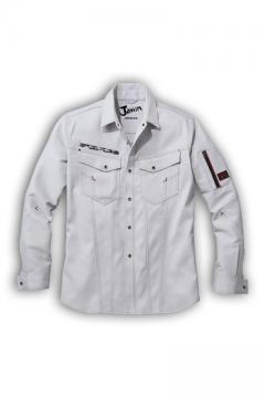作業服の通販の【作業着デポ】【Jawin】ストレッチ長袖シャツ(帯電防止・抗菌・消臭)