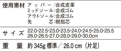 【Z-DRAGONジィードラゴン】セーフティシューズ(マジックタイプ) サイズ詳細