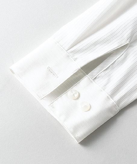 【3色】長袖ブラウス(取外し可能リボン付き/~25号あり)