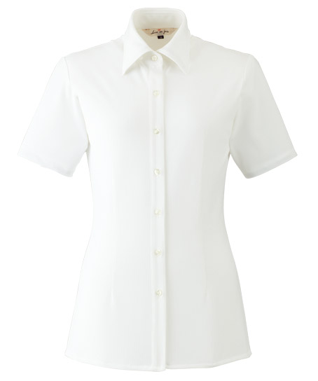 【3色】半袖シャツ(ブライトドットニット)