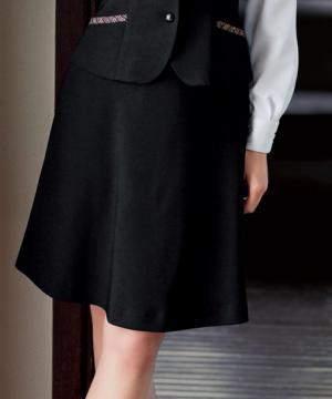 ユニフォームや制服・事務服・作業服・白衣通販の【ユニデポ】フレアスカート(トリクシオンサージ・らくらくカン使用)