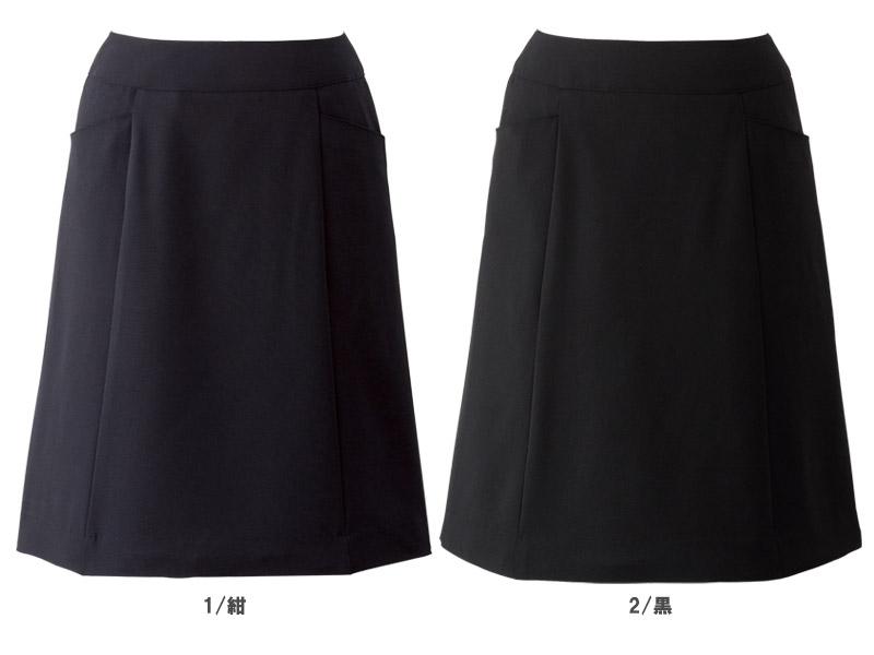 【全2色】Aラインスカート(春夏用)