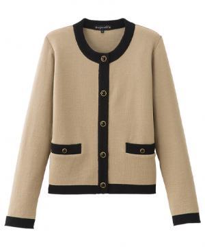 【全3色】丸襟ニットジャケット
