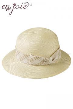 帽子(ミルクティーチェック)