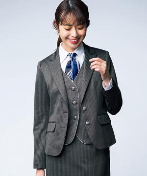 ユニフォームや制服・事務服・作業服・白衣通販の【ユニデポ】ジャケット(ストライプ・Air fit Suits Ⅱ)