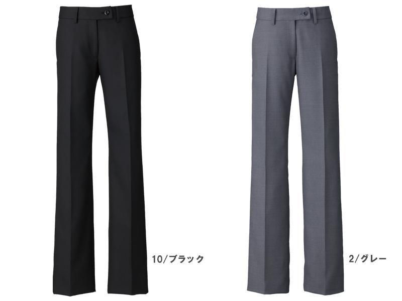 【全2色】フレアストレートパンツ(美スラッとSuits2)