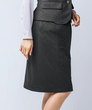 事務服・会社制服用ユニフォームの通販の【事務服デポ】セミタイトスカート(ストライプ・Air fit Suits Ⅱ)