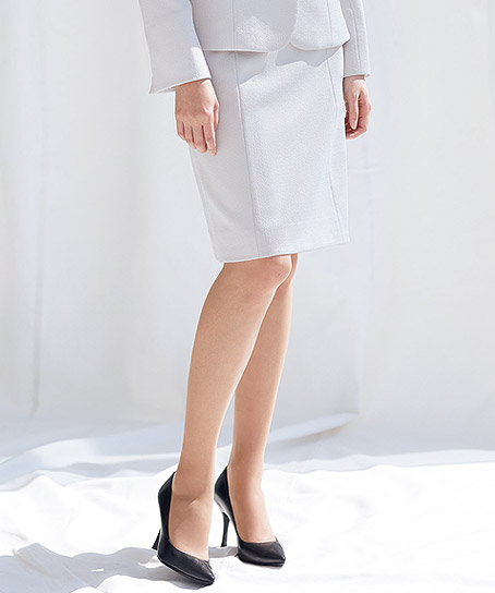 【2色】セミタイトスカート(カメリアツイード)