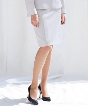 ユニフォームや制服・事務服・作業服・白衣通販の【ユニデポ】【全2色】セミタイトスカート(カメリアツイード)