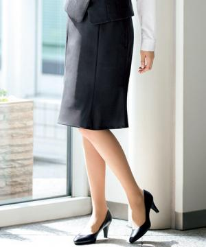 ユニフォームや制服・事務服・作業服・白衣通販の【ユニデポ】【全2色】セミタイトスカート(美スラッとSuits2)