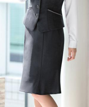 ユニフォームや制服・事務服・作業服・白衣通販の【ユニデポ】【全2色】マーメイドラインスカート(美スラッとSuits2)