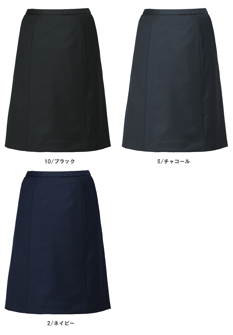 【全3色】Aラインスカート(ノンストレスシリーズ)