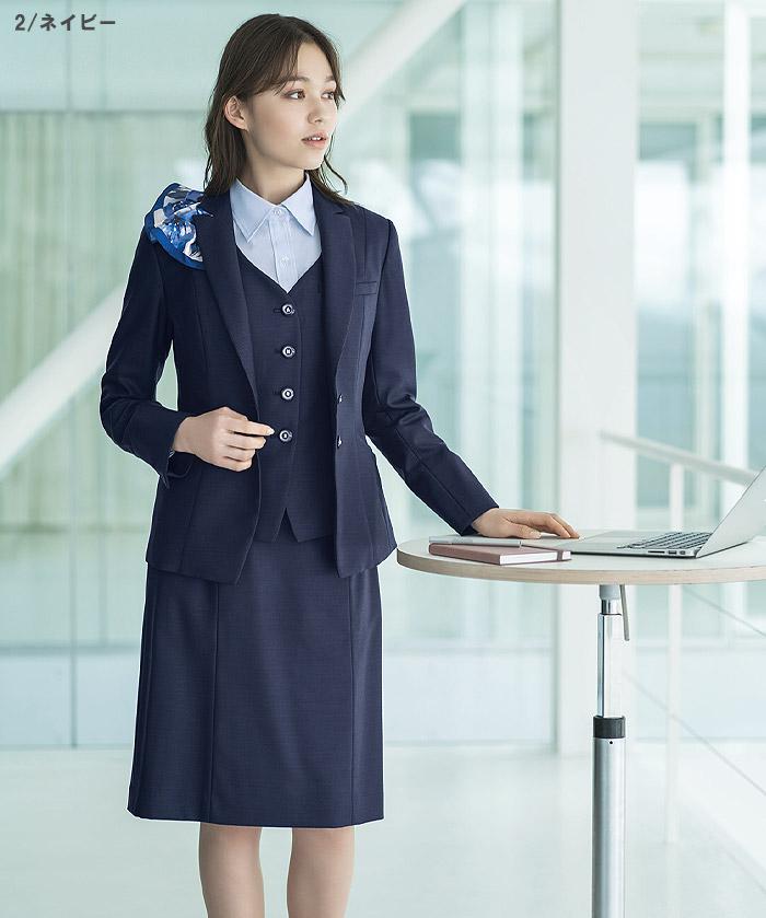 【全2色】セミタイトスカート(美スラッとSuits Pure)