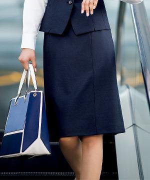 【2色】セミタイトスカート(美スラッとSuits Pure)