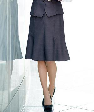 ユニフォームや制服・事務服・作業服・白衣通販の【ユニデポ】【全2色】マーメイドラインスカート(美スラッとSuits Pure)