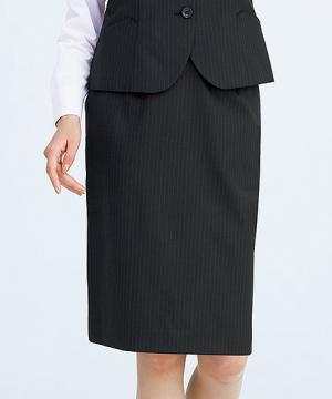 ユニフォームや制服・事務服・作業服・白衣通販の【ユニデポ】【3色】セミタイトスカート(HIGH STRETCH SUITS)