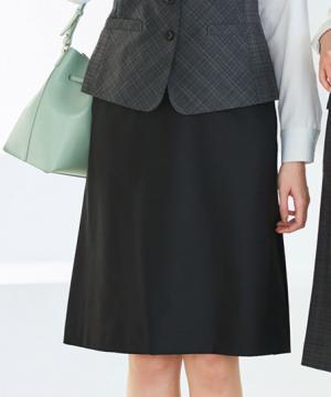 Aラインスカート(ストレッチ・静電気防止)(58cm丈/9号)