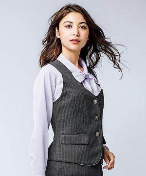 ユニフォームや制服・事務服・作業服・白衣通販の【ユニデポ】ベスト(ストライプ・Air fit Suits Ⅱ)