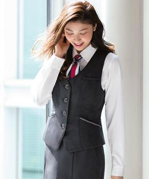 ユニフォームや制服・事務服・作業服・白衣通販の【ユニデポ】【2色】ベスト(美スラッとSuits2)