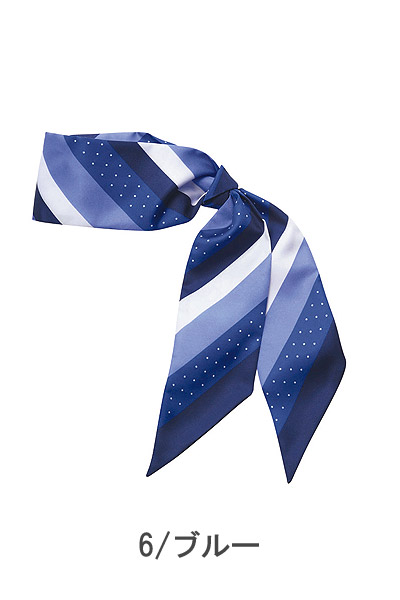 【2色】斜めのストライプ&ドット柄スカーフ