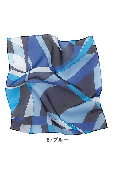 【全2色】ミニスカーフ(幾何学柄)